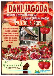 Plakat Dani jagoda 29. i 30.05.2021. u Kamačniku