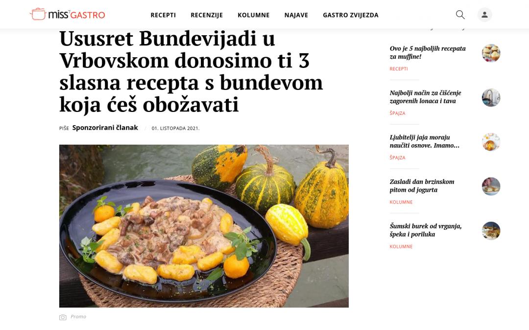 missGASTRO.hr – Ususret Bundevijadi u Vrbovskom donosimo ti 3 slasna recepta s bundevom koja ćeš obožavati