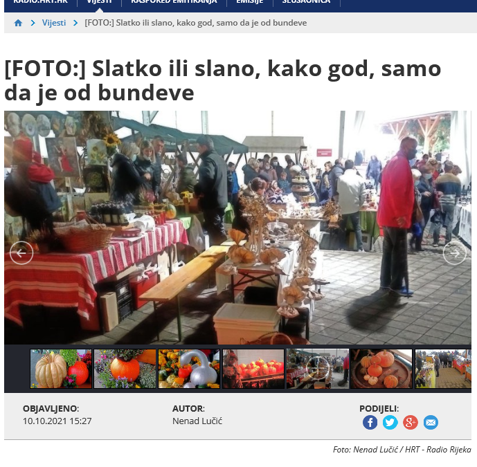 Radio Rijeka – [FOTO] Slatko ili slano, kako god, samo da je od bundeve, 10.10.2021. godine
