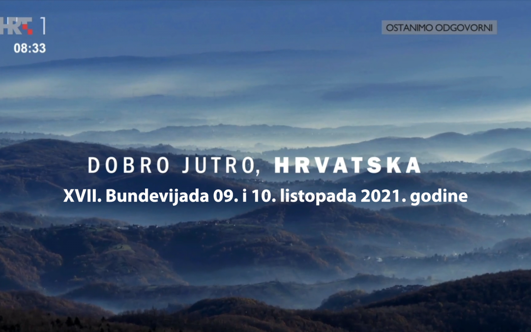 HRT 1 – Dobro jutro Hrvatska – Najava za XVII. Bundevijadu 09. i 10. listopada 2021. godine