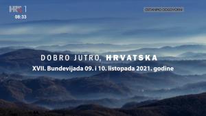 HRT 1 - Dobro jutro Hrvatska - Najava za XVII. Bundevijadu 09. i 10. listopada 2021. godine